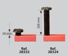 JUEGO DE 4 UNIDS. SOPORTES XL (350 MM.) PARA C-5