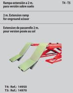 KIT 4 RAMPAS DE EXTENSION 1,4MTS. PARA ELEVADORES TIJERA PLATAFORMA T4