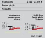 KIT DE 4 UNIDS. DOBLE HUSILLO PARA C-2.32, C-3.5, C-4 (100-190 MM.)