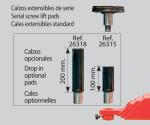 JUEGO DE 4 UNIDS. SOPORTES XL (325-375 MM.) PARA C-3.5, C-4