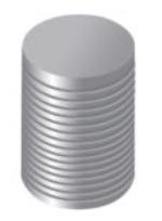 KIT DE 4 UNIDS. TRIPLE HUSILLO PARA C-3.5, C-4 (100-260 MM.)