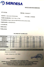CERTIFICADO DE CALIBRACION MANOMETRO INFLADOR